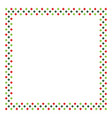 red and green rhombus frame border in shape of vector image