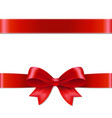 red bow vector image vector image