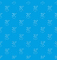 robotic arm pattern seamless blue vector image vector image