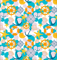 sailor cartoon pattern vector image