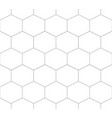 seamless pattern hexagon vector image vector image