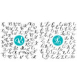 set letters k l hand drawn flourish vector image vector image