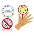 set realistic bacteria or various microscopic vector image vector image