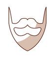 shadow vintage beard cartoon vector image vector image