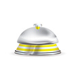 silver and gold hotel reception bell vector image