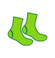 socks sign lemon scribble icon on white vector image