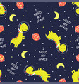 space dinosaur pattern vector image