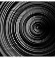 Spiral concentric lines circular rotating vector image