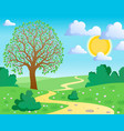 spring theme landscape 1 vector image vector image