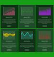 Statistics plots and analytics graphs cards