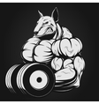 strong dog vector image vector image