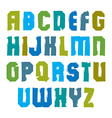 stylish brush uppercase letters handwritten vector image vector image