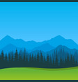 summer landscape with clear blue sky vector image vector image