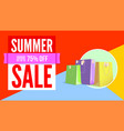 summer sale flat design poster selling ad banner vector image vector image