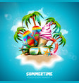 summertime holiday with ice vector image vector image