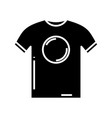 t shirt black icon concept vector image vector image