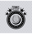 tennis league design vector image