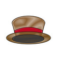 top hat for men fashion vintage accessory vector image vector image