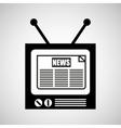 tv vintange news icon graphic vector image vector image