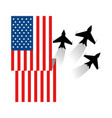 united state flag vector image vector image