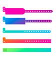 wristband gradient bracelet vector image vector image