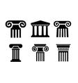 column icons vector image