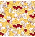 Seamless pattern with grapes and wine glass vector image