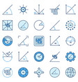 45 degree colored icons - degrees angle