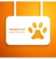 Applique dog track icon frame for happy ani vector image
