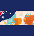 australia concept of thinking growing innovation vector image vector image
