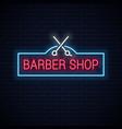 barber shop neon sign with scissors neon