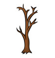 bare tree cartoon design isolated on white vector image