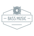 bass music logo simple gray style vector image