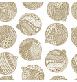 beautiful monochrome white and gold pattern vector image vector image