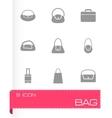 black bag icon set vector image vector image