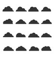 black cloud silhouette vector image vector image