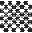 black puzzle pieces - jigsaw - field chess vector image vector image