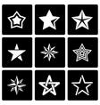 black stars icon set vector image