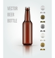 Blank glass beer bottle for new design vector image vector image