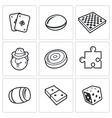 Board games icon vector image