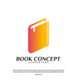 book logo concept smart learning education logo vector image