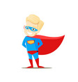 boy in superhero costume on white background vector image vector image