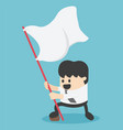 businessman holding a flag waving vector image