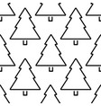 christmas tree outline seamless pattern vector image vector image