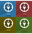 Color set Compass Flat modern web button with long vector image