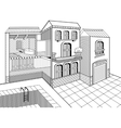 Country House Cross Section vector image vector image