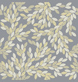 decorative seamless pattern with elegant leaves vector image