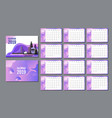 desk calendar 2019 template layout annual vector image vector image