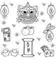 Doodle of Chinese New Year vector image vector image