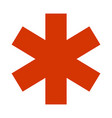 emergency star - medical symbol icon flat isolated vector image vector image